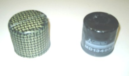 Mitsubishi Evo 4/5/6  Kevlar Oil Filter Guard. RT0482/MU