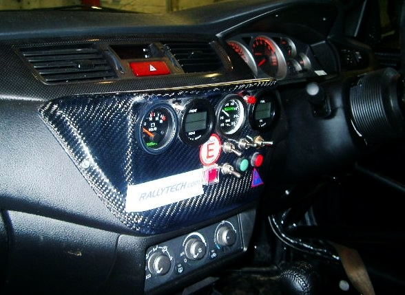 Mitsubishi Evo 9 GT Carbon Centre Dash Panel. RT0556/MI