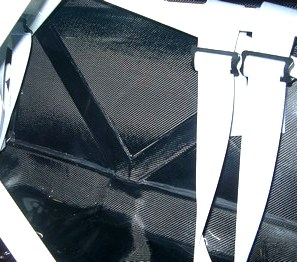 Mitsubishi Evo 7 rear seat delete carbon panel set